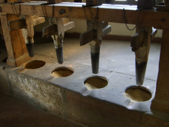 Antike Schälmaschine