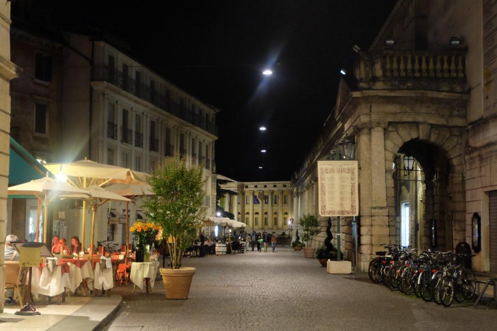 Verona via Roma by night