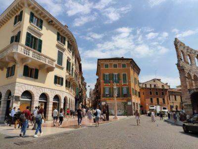 Die Einkaufsstraße Veronas